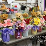 Specially customised teddy bouquet for secretary's week 2013