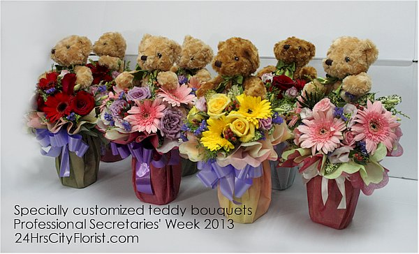 teddy bouquets