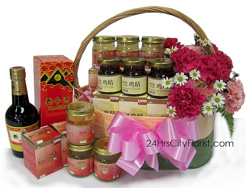 health basket for mother's day