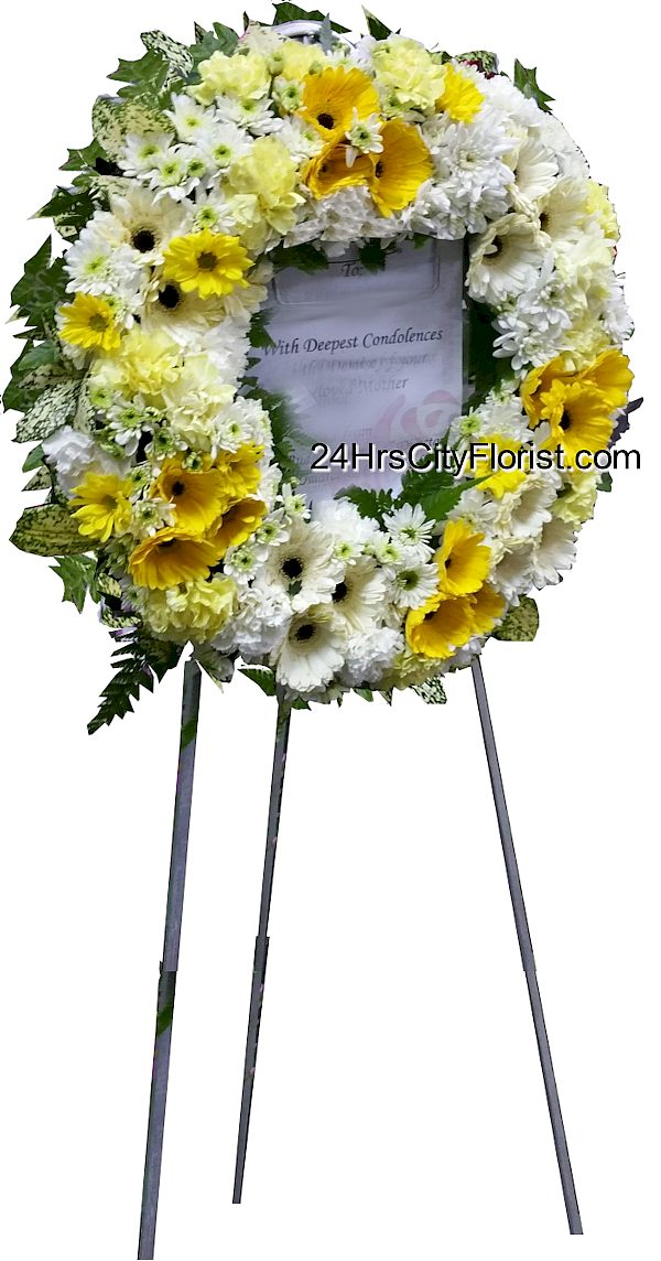 Condolences wreath singapore