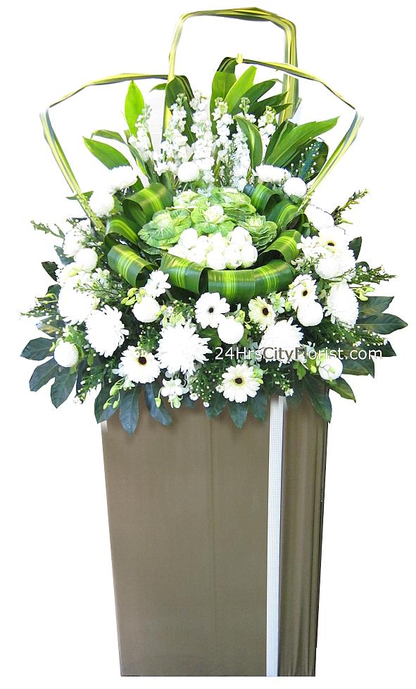 funeral flowers stand