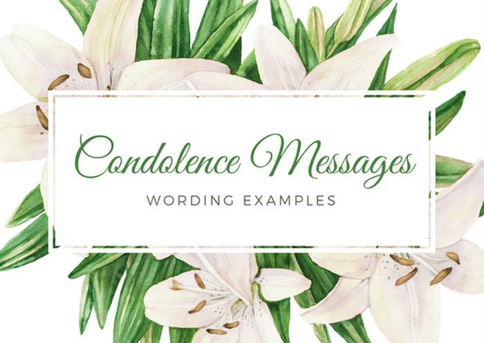 condolence message for condolences flowers
