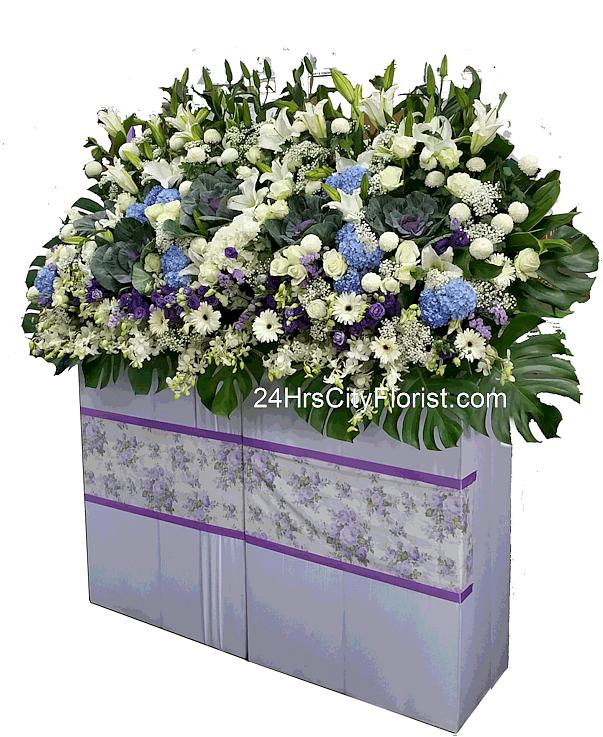 condolence grand flower stand