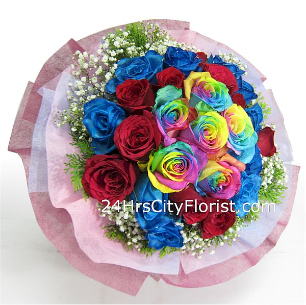 multi colour rose