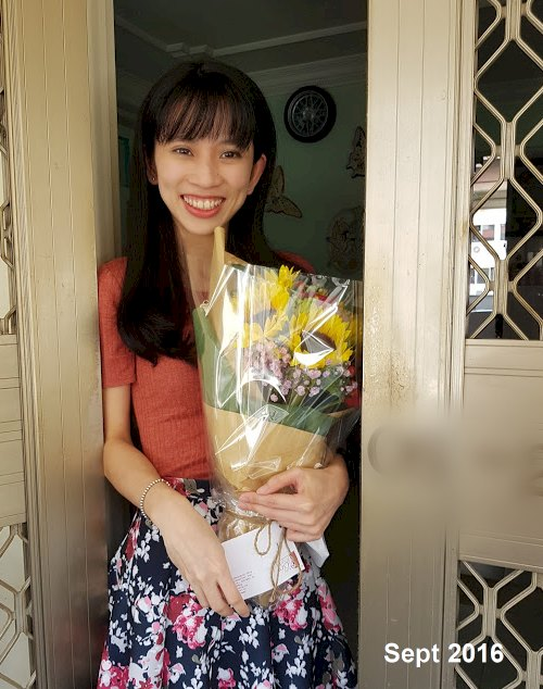 PeiWen's Birthday with flowers from 24hrscityflorist.com