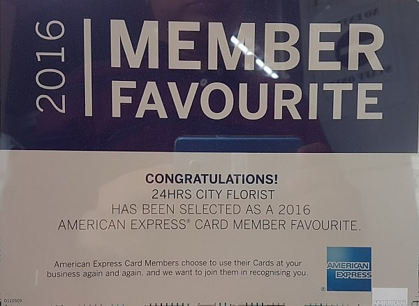 amex card member's favourite award