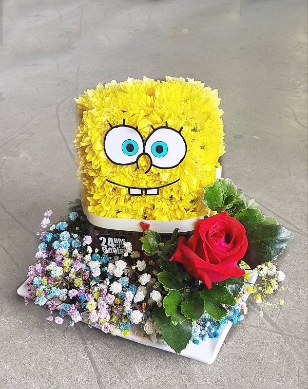 spongebob squarepants flower arrangement