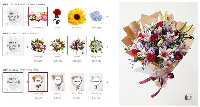 make your own bouquet online