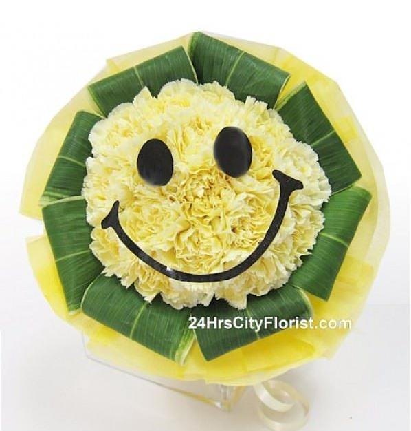 smiley bouquet