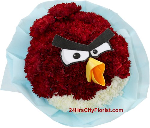 angry bird bouquet