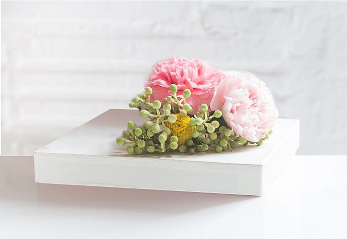 flowers on gift wrap