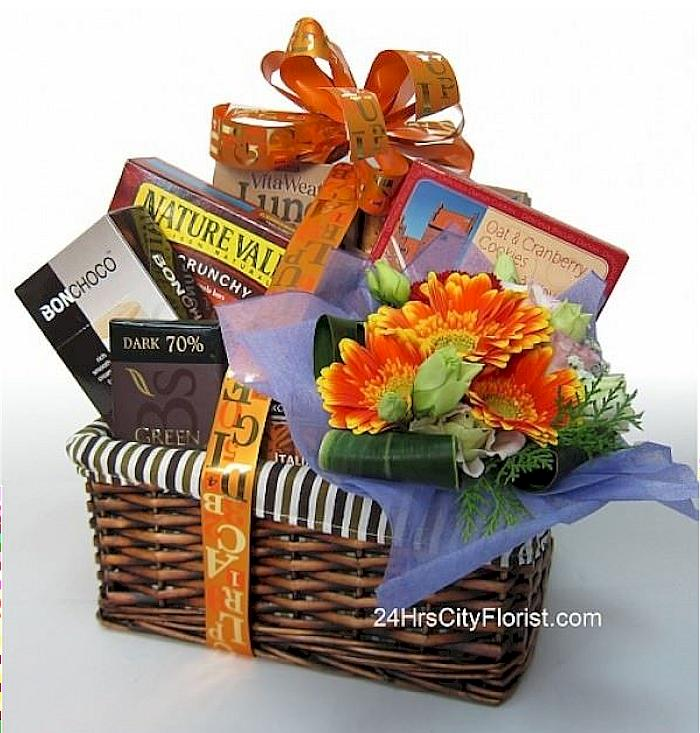 healthy food gift basket