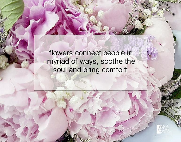 flowers connect people