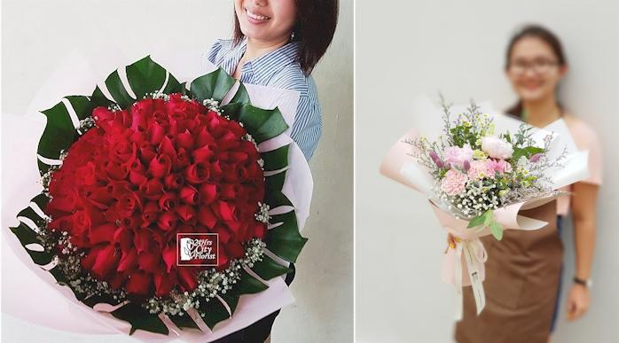 Rachel 20 Shared Her Experience Of Receiving Flowers From Friends I Received My On Birthday And Was Really Surprised
