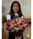 rusty rustic dried flower bouquet