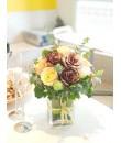 bronze rose arrangement