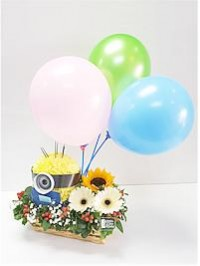 Minion Basket Flower..