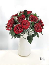 Red Rose In Vase..