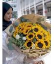 sunflower bouquet 24 stalks