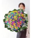 Colour My Life (99 rainbow rose bouquet) Valentine