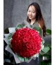 99 stalks red rose bouquet