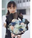 blush-black-gray-white bouquet