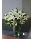 lily in vase arrangement