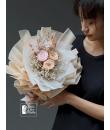 peach colour preserved bouquet