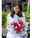 dozen red rose bouquet