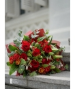Scarlet Beauty - Lily And Rose Bouquet Valentine