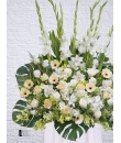 tall condolence flower stand