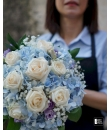 blue hydrange bouquet