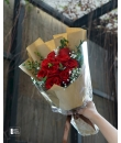 Desirable (Red Rose Bouquet in Kraft Paper)