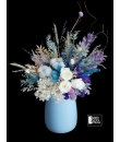 dried flowers in vase arrangement