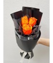 Fluorescent Orange Rose Bouquet