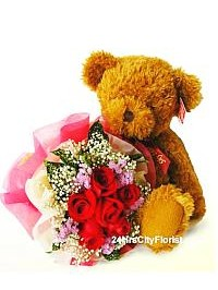 Bear With Rose..