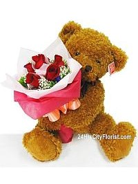 Beary Huggie Rose Bo..