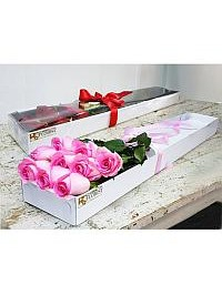 Box of Pink Roses..