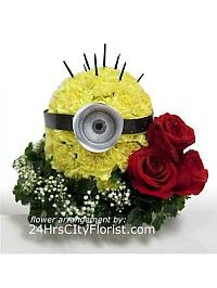 Minion Flower Art..
