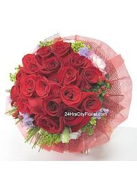 Red Rose Posy by 24H..