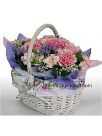 Basket of Carnations..
