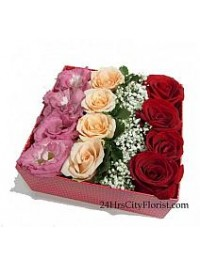 Flowers In Box..