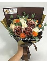 Bronze Rose Bouquet ..