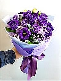 Eustoma Purple Bouqu..