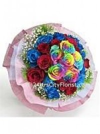Multi Colour Rose Ha..