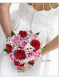 Red Pink Rose Bridal..