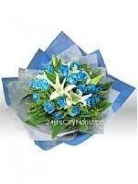 Blue Rose White Lily..