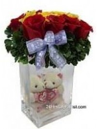 Couple Bear in Vase ..
