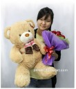 bear and bouquet