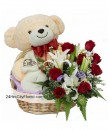 A1 Big Bear Rose Basket